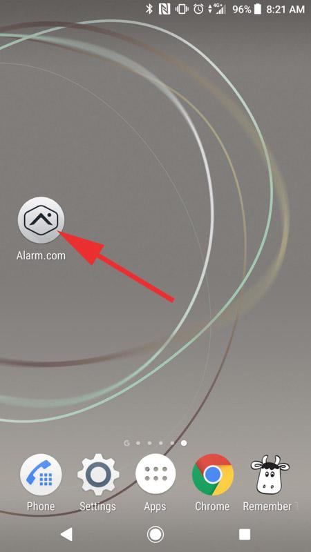 Alarm.com Mobile App Step 01