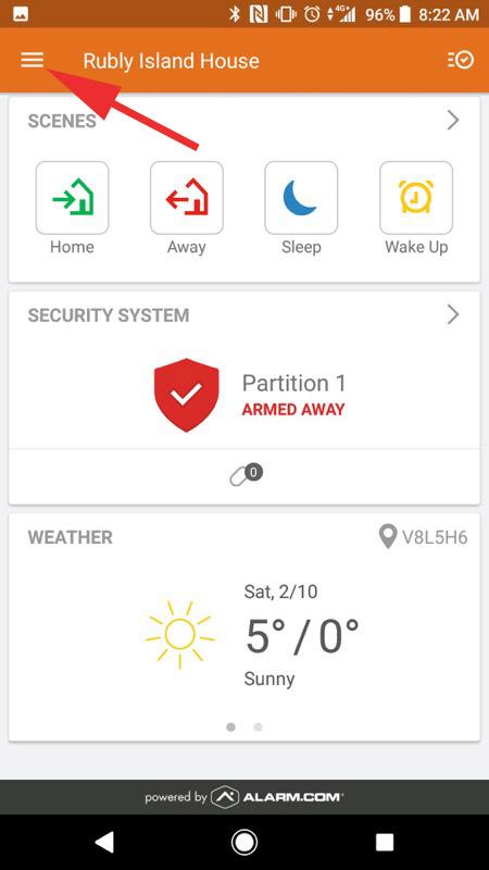 Alarm.com Mobile App Step 04