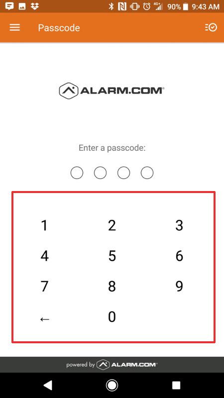 Alarm.com Mobile App Step 15